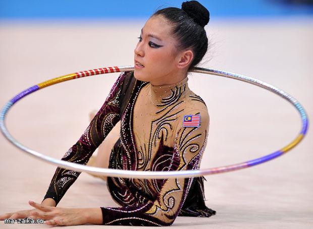 Вращение обруча в художественной гимнастике