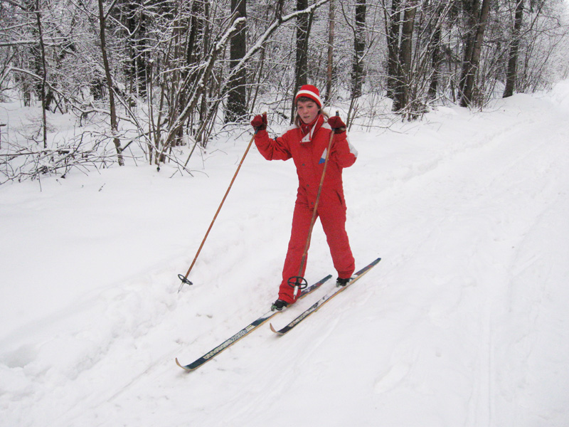 «Шведская эстафета» подвижная игра на снегу