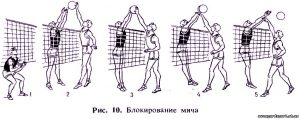 блокирование сеточного мяча