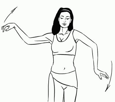 Махи-«волны» в художественной гимнастике